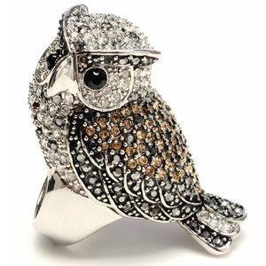 *NWOT* 🦉 Amrita Singh Crystal Owl Ring 🦉